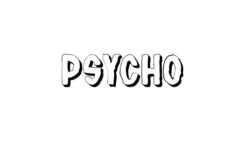 psycho  free drop shadown fonts