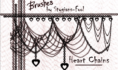 hearts chain photoshop brushes free