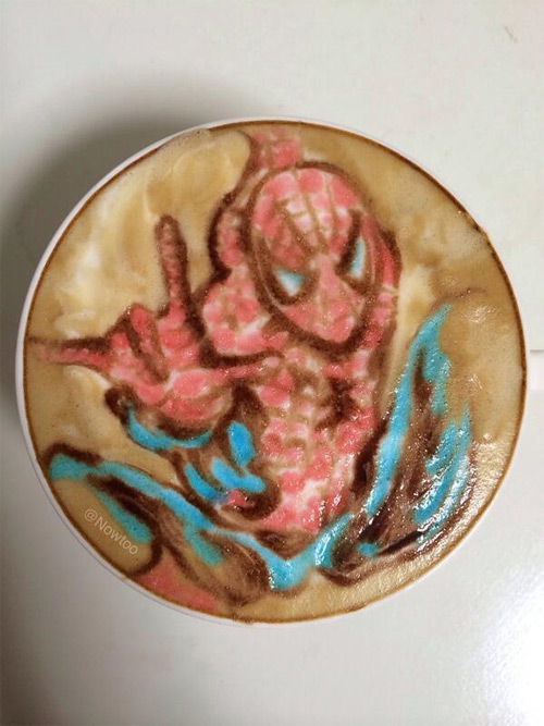 nowtoo sugi colored latte art featured