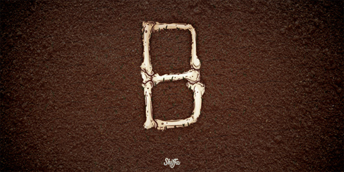 B Bones Shiffa 36 Days of Type typography illustration