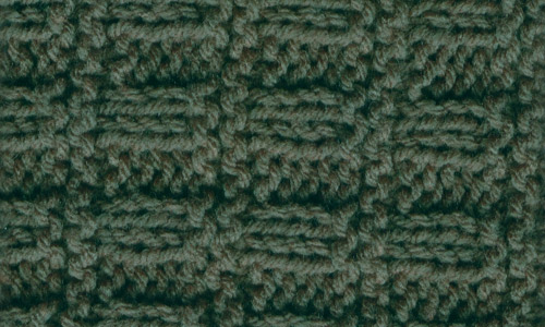 Green crochet seamless fabric texture