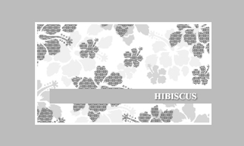 Leafy  free hibiscus brushes