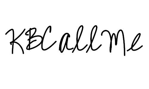 Fast writing font
