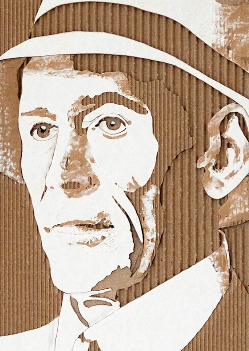 giles oldershaw carving cardboard portraits featured