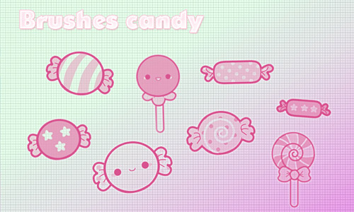 Doodle candy brush