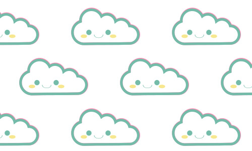 smiley clouds patterns free