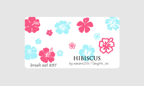 Cute free hibiscus brushes