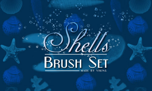 High quality shells photoshop brushes