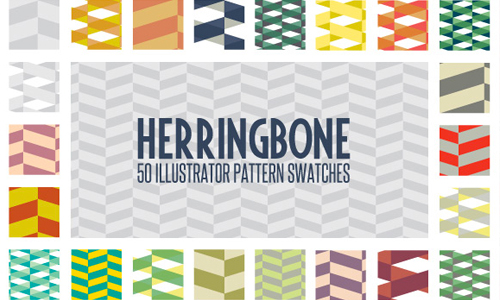 herringbone illustrator pattern