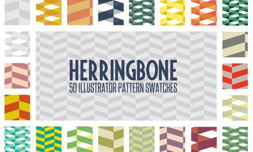 herringbone illustrator pattern