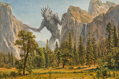 Oliver Wetter featured The Ancient Kaiju Project landscape paintings