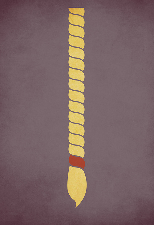 Rapunzel minimalist illustration sinch