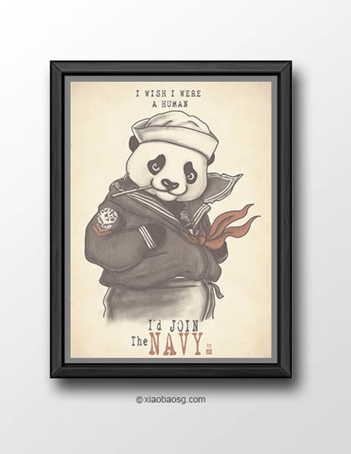 Sailor  William Chua featured panda propaganda posters