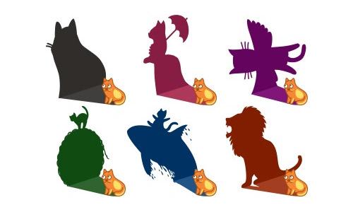 Cat shadows icons