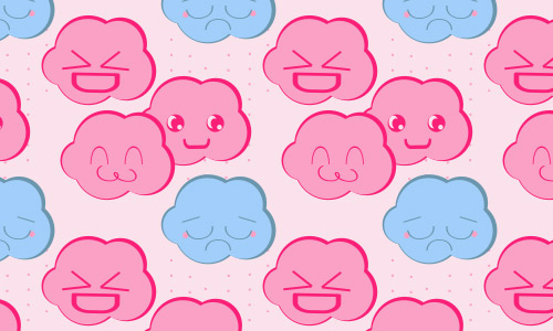 emoticon clouds patterns free