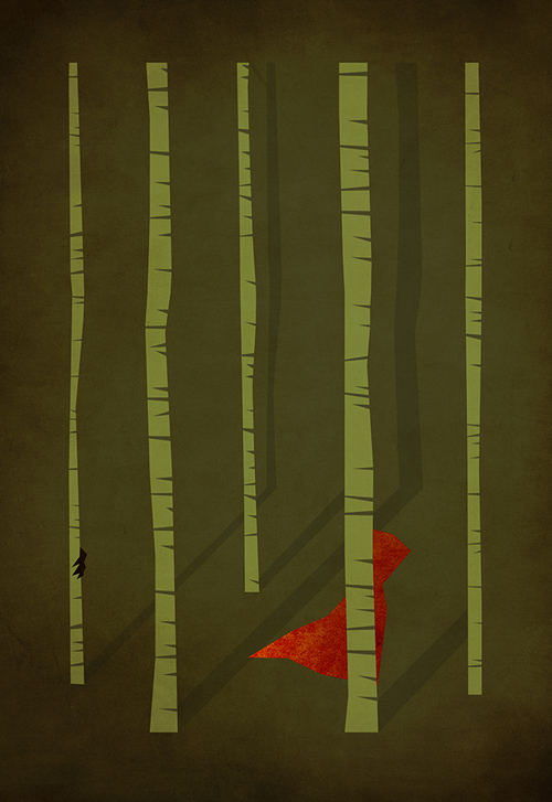 Little Red Riding Hood  minimalist illustration sinch