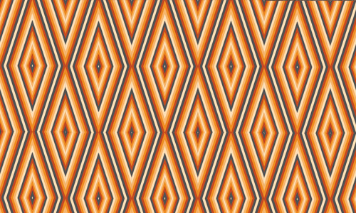 Retro orange diamond patterns