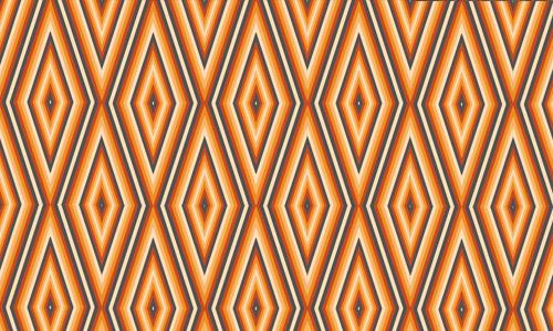 Retro orange diamond patterns