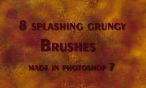 grungy splash brushes
