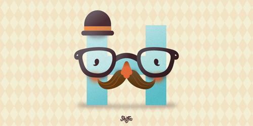 Hipster Shiffa 36 Days of Type typography illustration