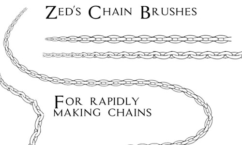 simple chain photoshop brushes free