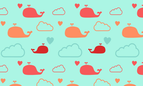 whale clouds patterns free
