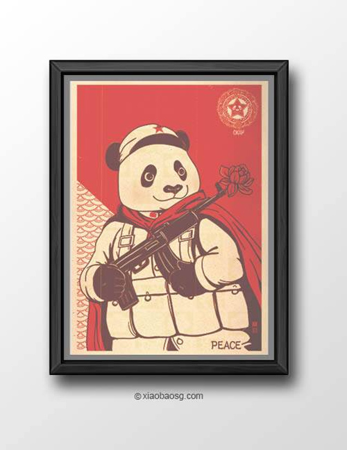 Okay William Chua featured panda propaganda posters
