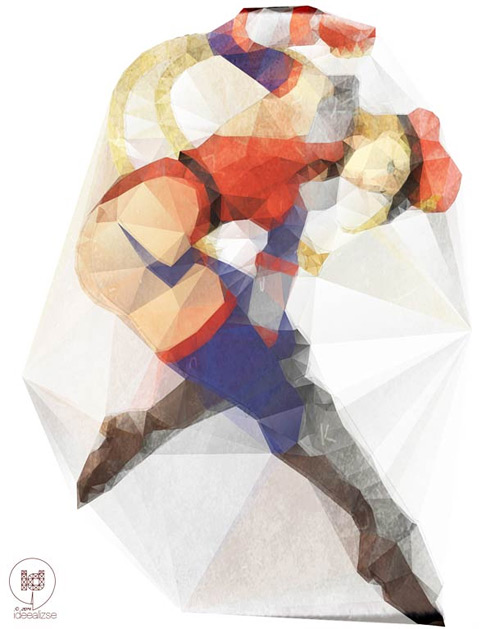 Lise Halluin low poly illustration featured
