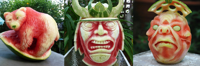 Watermelons Carved To Different Sculptures That Will Amaze You
