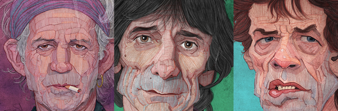 Impressive Caricatures Of Famous Celebrities Drawn In Fine Lines