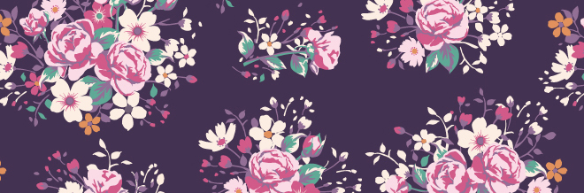 Create Pretty Designs With Free Seamless Flower Patterns