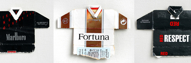 Cigarette Boxes Recycled Into Mini Soccer Jerseys