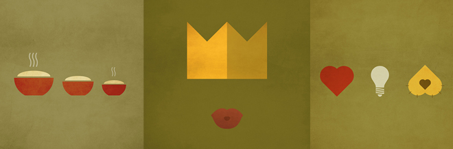 Beautiful Minimalist Illustrations Of Famous Children Stories
