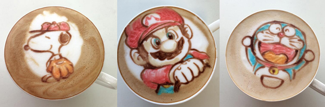 Intensify You Coffee Craving With These Colorful Latte Art