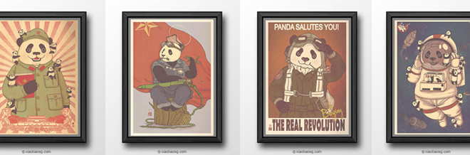 Panda Revolution: Vintage Illustrations Of Panda Propaganda Posters
