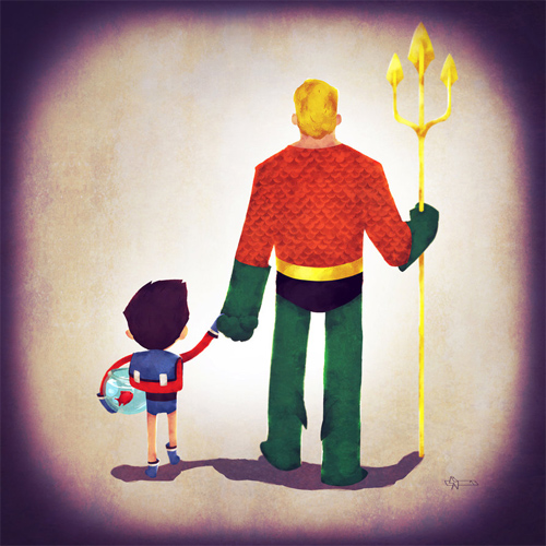 Aquadad Andry-Shango Super families illustrations