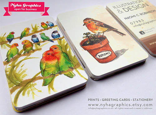 bird business card designs