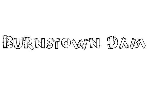 burnstown wood font