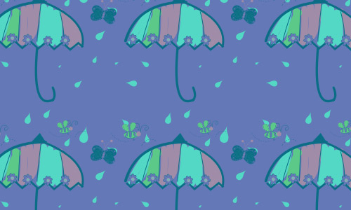 Rainy umbrella pattern