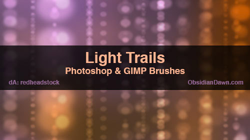 trails light brushes photoshop