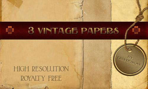 vintage paper pack