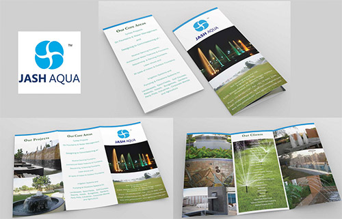 water company brochure designs