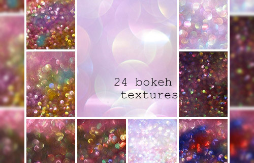 colorful bokeh texture pack