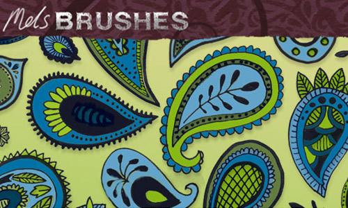 Doodle paisley brush