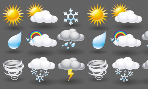 30 Sets of Free Weather Icons | Naldz Graphics