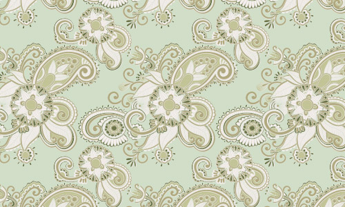 mint green free paisley patterns