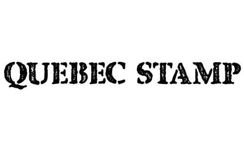 quebec stamp font free