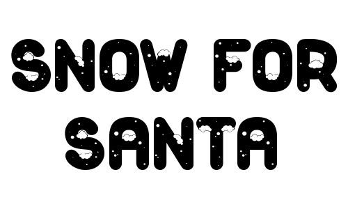 santa snow font free