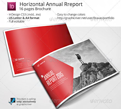 horizontal brochure design