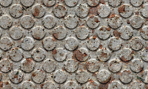 Circle pattern seamless rusty metal texture
